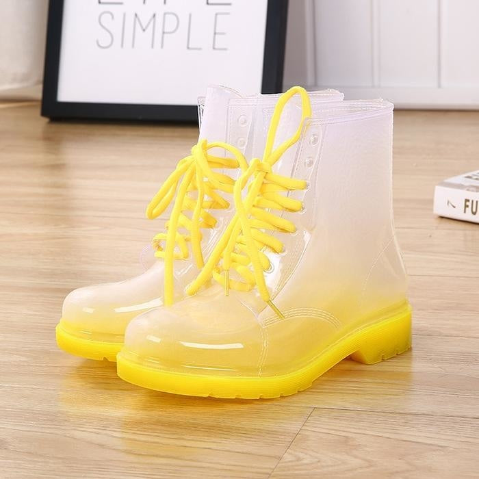 Transparent Rain Booties - Yellow / 7 - boots
