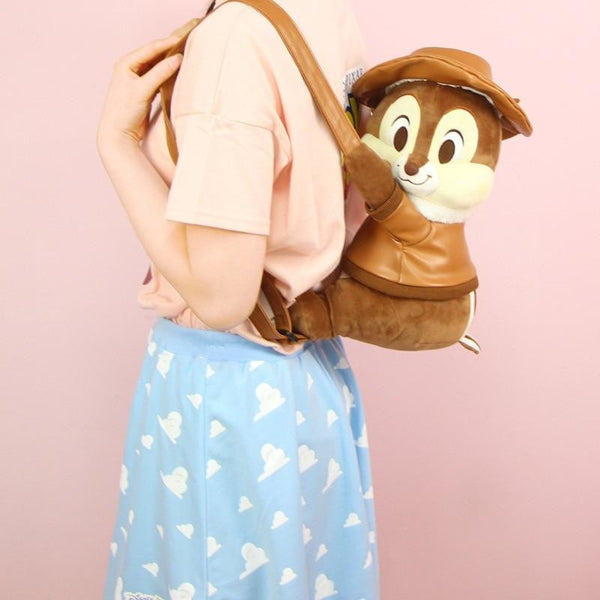 Disney Chip n Dale Chipmunk Backpack Book Bag Plush Stuffed Animal Kawaii Cute Honeycore Cottagecore