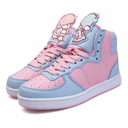 fairy kei little twin star sanrio hi top sneakers high tops shoes candy colored sweet lolita yume kawaii harajuku japan fashion dd/lg cgl abdl age regression by ddlg playground