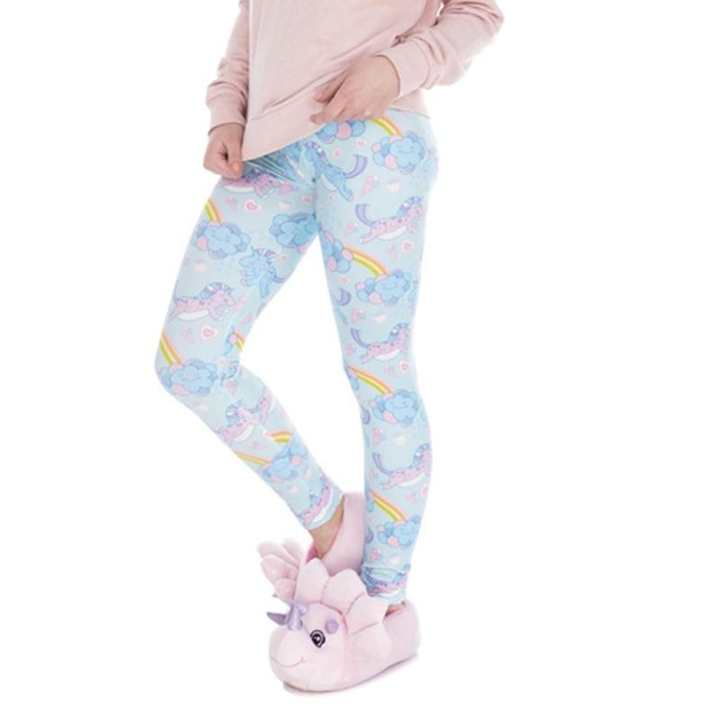 White Purple Unicorn Leggings Yoga Pant Cute Kawaii