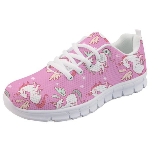 Kawaii Pink Pegasus Unicorn Shoes Sneakers Athletic Footwear Cute Pastel Fairy Kei Style