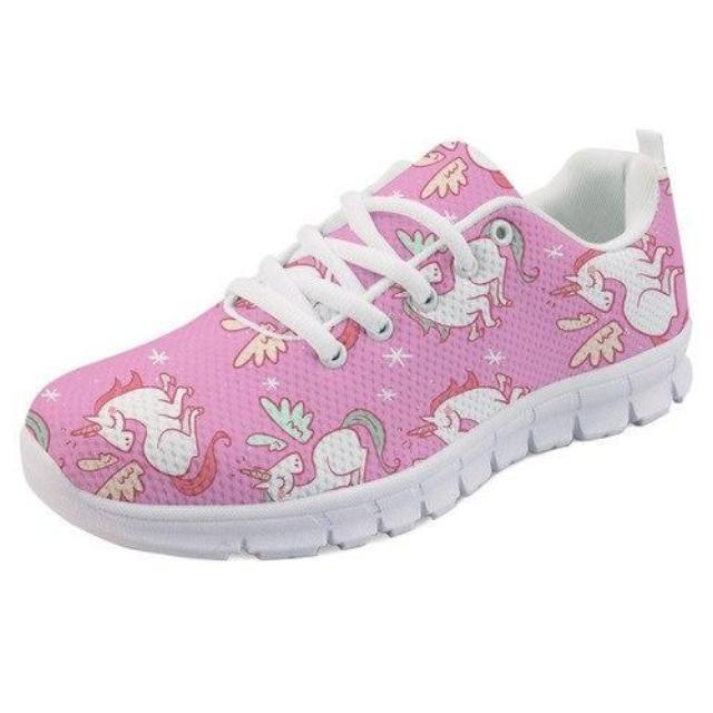 Kawaii Pink Unicorn Shoes Sneakers Athletic Footwear Cute Pastel Fairy Kei Style