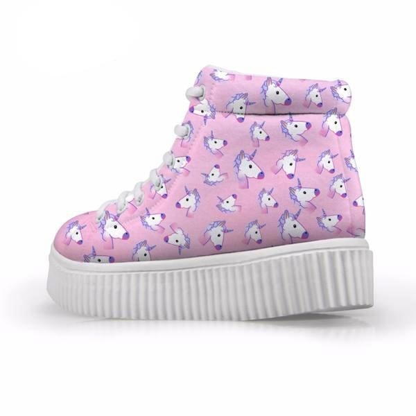Unicorn Wedge High Tops (Many Colors) - Shoes