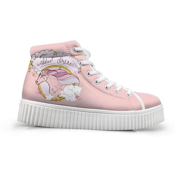 Unicorn Wedge High Tops (Many Colors) - Pink Dream Unicorn / 5 - Shoes