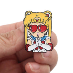 Usagi Enamel Pins - Heart Eyed Usagi - brooch