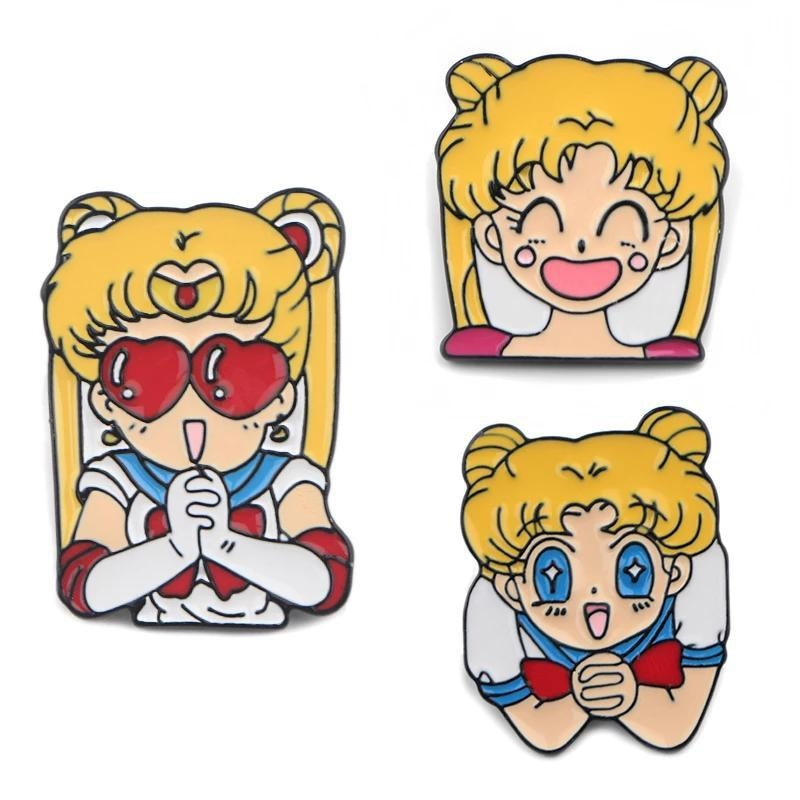 Usagi Enamel Pins - Set of all 3 (Save $7) - brooch