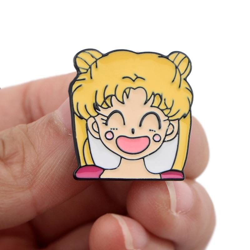 Usagi Enamel Pins - Smiling Usagi - brooch