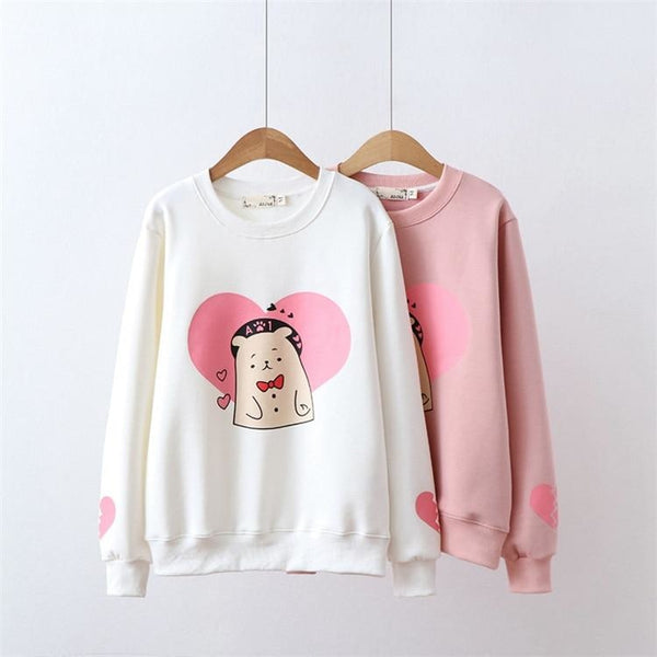 Valentine Bear Crewneck - sweater