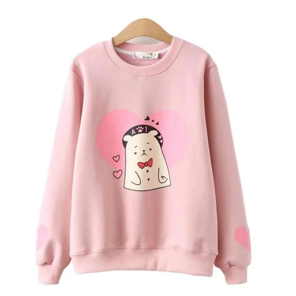 Valentine Bear Crewneck - Pink / L - sweater