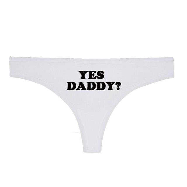 Pink Yes Daddy G-Strong Thong Underwear Lingerie Fetish Kink ABDL DD/LG DD/LB Daddy Kink Age Play by DDLG Playground