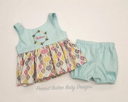 Believe Top & Shorts-OOAK-18M-24M