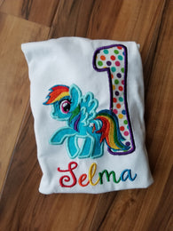 Rainbow Pony Birthday Shirt