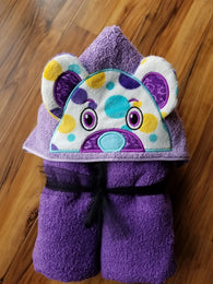 Custom Bear Hooded Towel