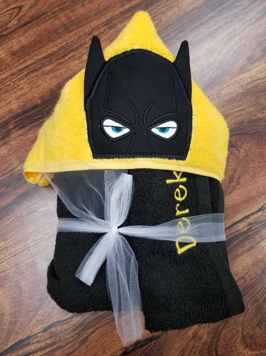 Bat Hero Hooded Towel