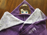 Sloth Bow Hooded Towel