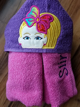 Bow Girl Hooded Towel