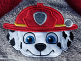 Patrol Friends - Fire Rescue Dog Hooded Towel