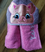 Pig Hooded Towel