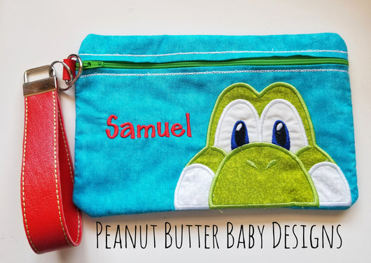 Game Dino Zipper Pouch