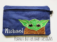 Baby Green Zipper Pouch