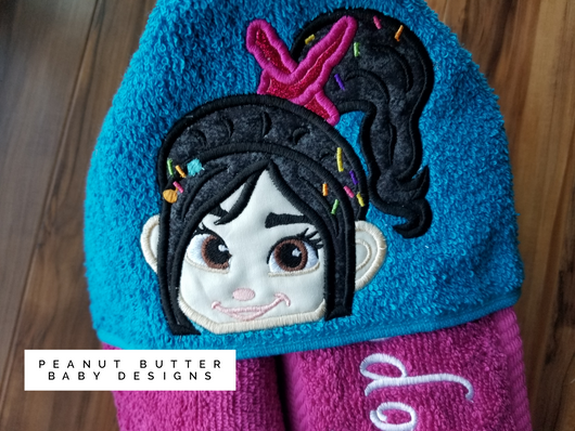 Glitch Girl Hooded Towel