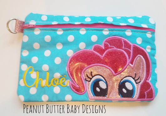 Pony Friends-Pink Pony Zipper Pouch
