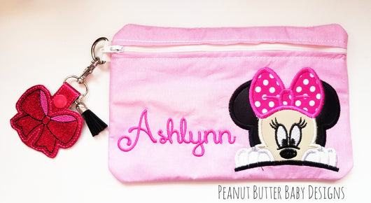 Miss Mouse Peeking Zipper Pouch
