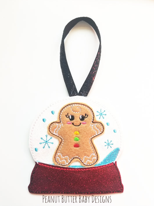 Gingerbread Globe Ornament