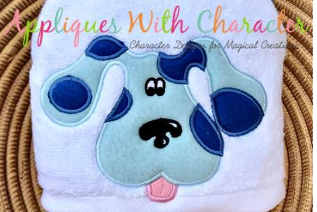 Clue Dog Blue 2 Hooded Towel