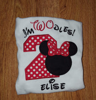 Girl Mouse Birthday Shirt #2