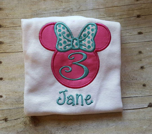 Girl Mouse Birthday Shirt