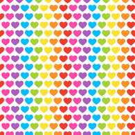 Rainbow Heart Bummies