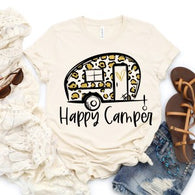 Happy Camper - Leopard - Screen Print