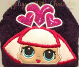 Heart Doll Hooded Towel