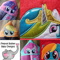 Butterfly Pony Hooded Towel