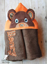 Otter Girl Hooded Towel