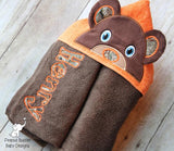 Christmas Gingerbread Boy Hooded Towel