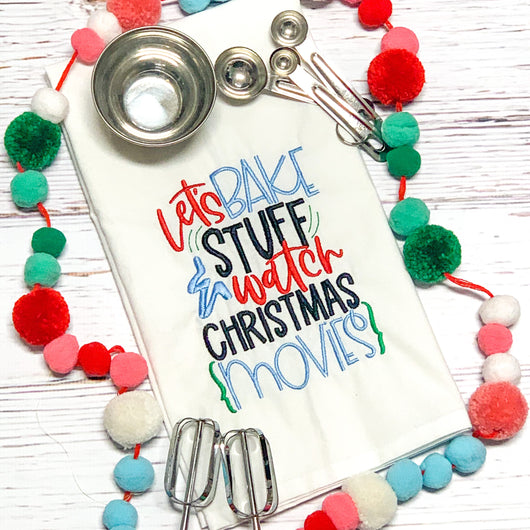 Let's bake stuff and bake - Kitchen Towels- Christmas