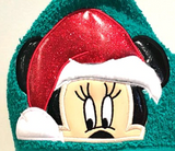 Christmas Mrs. Mouse Hooded Towel