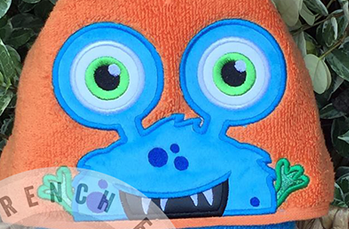 Boy Monster Hooded Towel