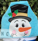Christmas Snowman Hooded Towel