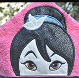 Warrior Princess Hooded Towel