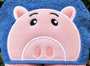 Toy Friends -- Piggy Bank Hooded Towel