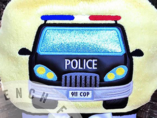 Police Car Hooded Towel