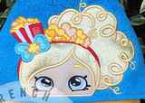 Popcorn Doll Hooded Towel