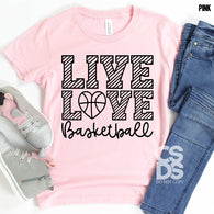 Live Love Basketball  | Youth Screen Print