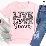 Live Love Soccer  | Youth Screen Print