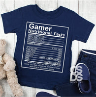 Gamer Nutritional Value | Youth Screen Print