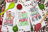 We wisk you a Merry Christmas | Kitchen Towels | Christmas
