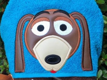Toy Friends -- Springy Dog Hooded Towel